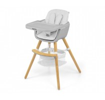 2-in-1 Espoo White chair for feeding