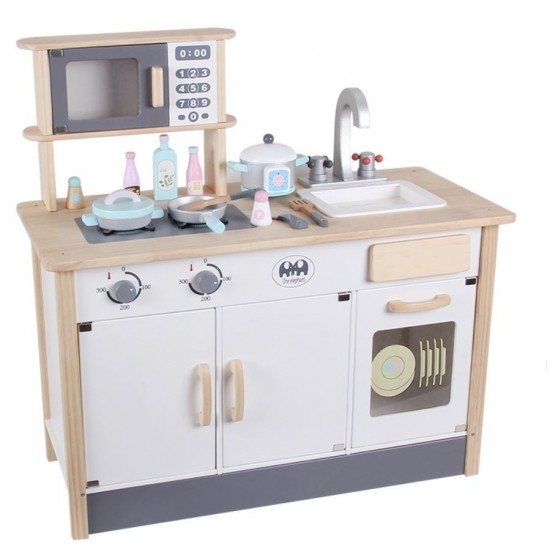 Modern kitchen with shelters and accessories