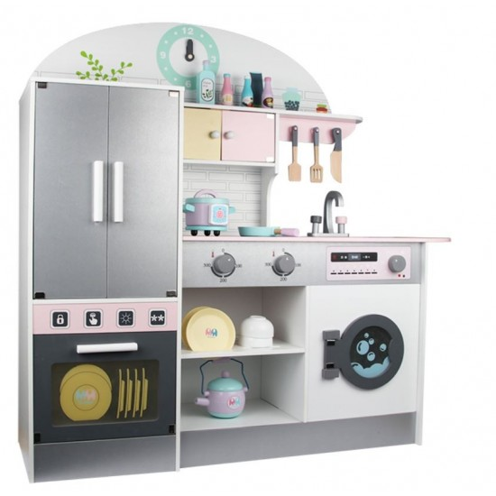 Wooden kitchen with accessories and shelter
