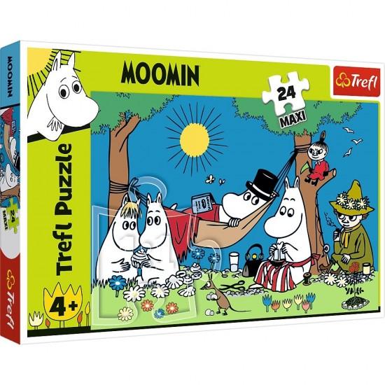 Puzzle 24 elementy Radosny dzie Mumink w puzzle