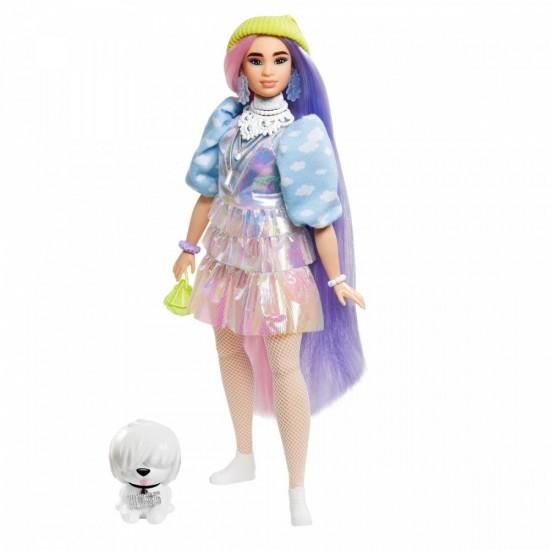 Lalka Barbie Extra Moda Sp dniczka holograficzna