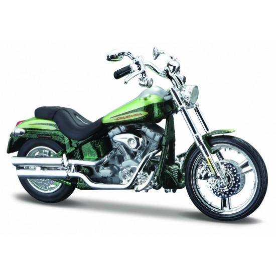 Motocykl HD 2004 FXSTDSE CVO 1/18 Zielony