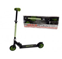 Black and green aluminum scooter