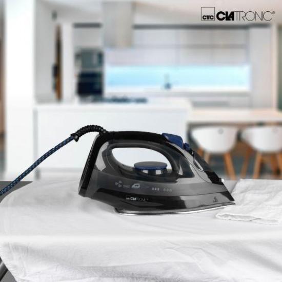 Clatronic DB 3703 iron Dry & Steam iron Stainless steel soleplate Black,Grey 1800 W