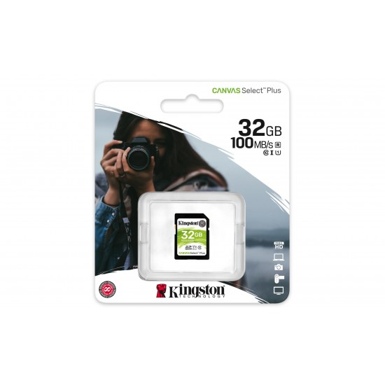 Kingston Technology Canvas Select Plus memory card 32 GB SDHC Class 10 UHS-I
