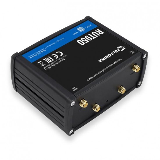 Teltonika RUT950 wireless router Single-band (2.4 GHz) Fast Ethernet 3G 4G Black