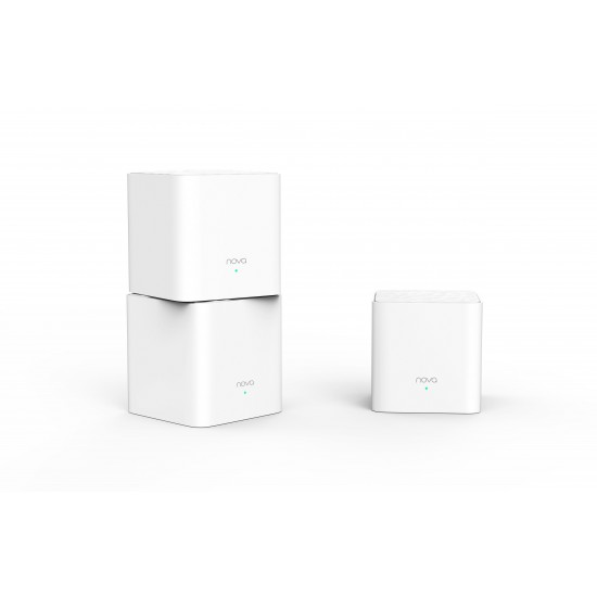 Tenda Nova MW3 wireless router Dual-band (2.4 GHz / 5 GHz) Gigabit Ethernet White
