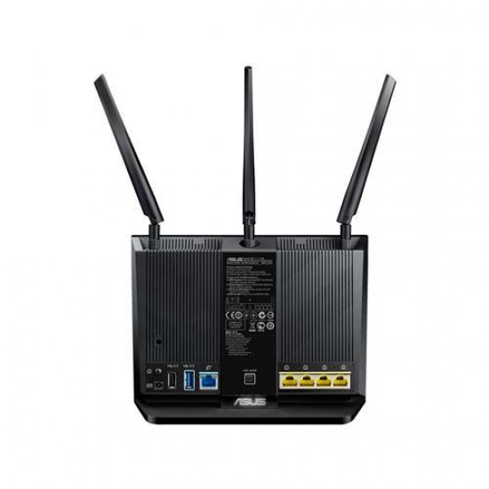 ASUS RT-AC68U wireless router Dual-band (2.4 GHz / 5 GHz) Gigabit Ethernet Black