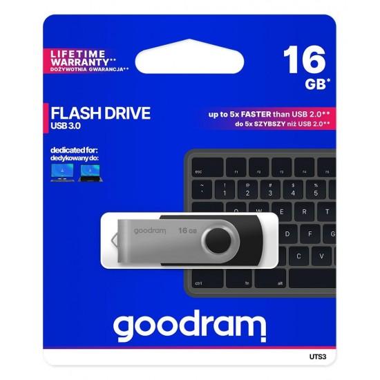 Goodram UTS3 USB flash drive 16 GB USB Type-A 3.2 Gen 1 (3.1 Gen 1) Black