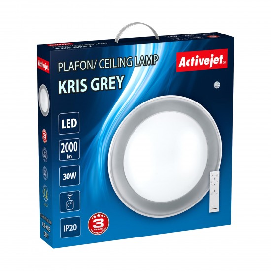 Activejet plafond LED AJE-KRIS Grey + remote control