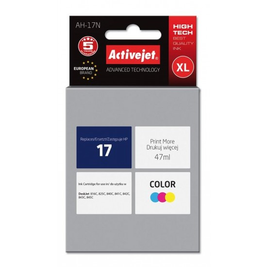 Activejet ink for Hewlett Packard No.17 C6625A
