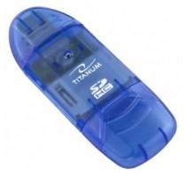 TITANUM TA101B card reader Blue USB 2.0