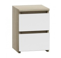 Topeshop M2 SONOMA MIX nightstand/bedside table 2 drawer(s) Oak, White