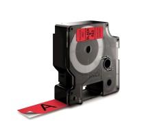 DYMO D1 Standard - Black on Red - 19mm