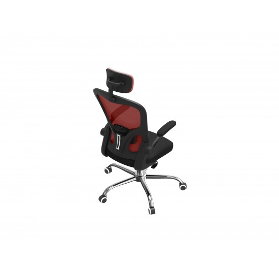 Topeshop FOTEL DORY CZERWONY office/computer chair Padded seat Mesh backrest