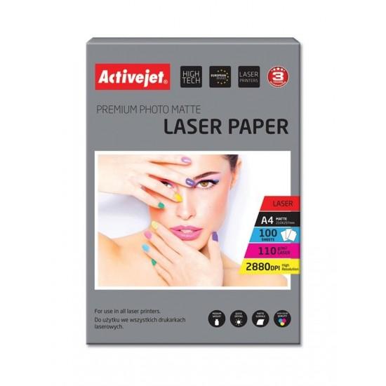 Activejet AP4-110M100L matt photo paper for laser printers