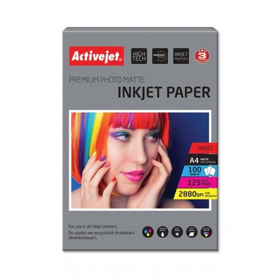 Activejet AP4-125M100 matt photo paper for ink printers