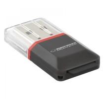 Esperanza EA134K card reader Black,Silver,Transparent USB 2.0