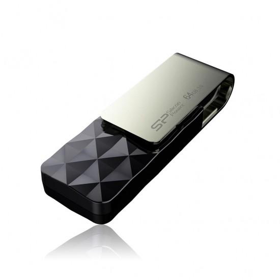 Silicon Power Blaze B30 USB flash drive 64 GB USB Type-A 3.0 (3.1 Gen 1) Black