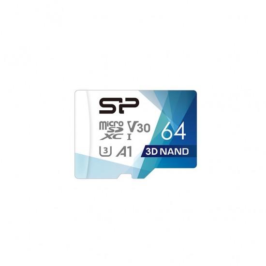 Silicon Power Superior Pro memory card 64 GB MicroSDXC Class 10 UHS-III