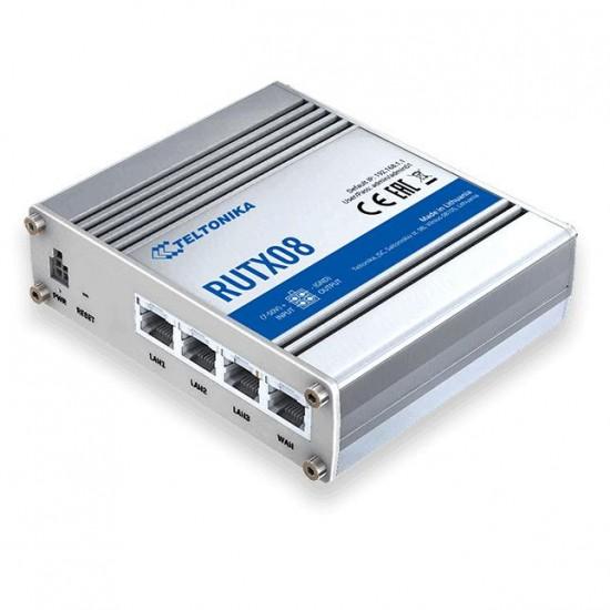 Teltonika RUTX08 wired router Gigabit Ethernet Stainless steel